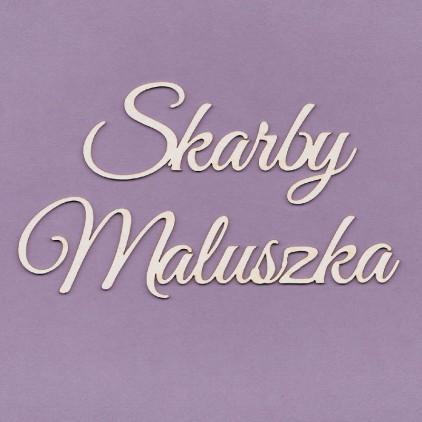 Cardboard element - Crafty Moly-  inscription Skarby maluszka- small G3