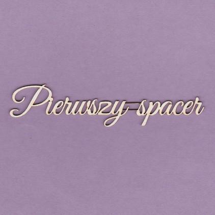 Tekturka -Crafty Moly - napis Pierwszy Spacer - G2