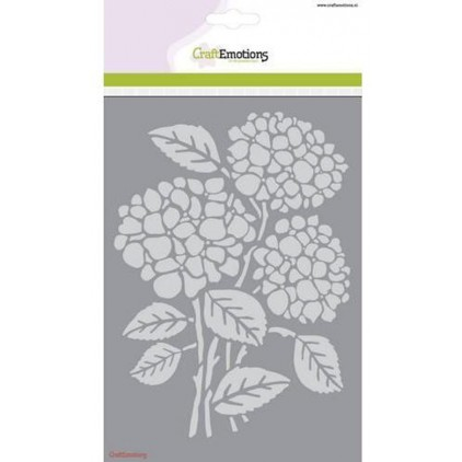 Maska, szablon A5 - Craft Emotions - hortensia