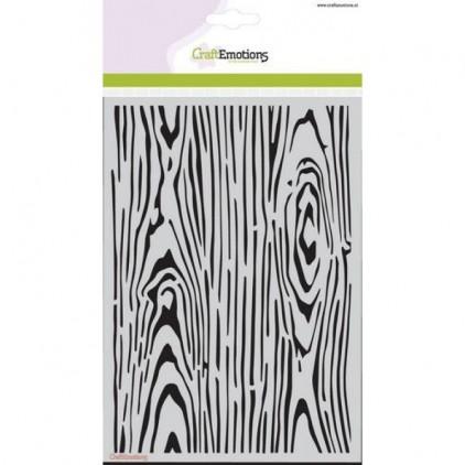 Maska, szablon A5 - Craft Emotions - wood grain