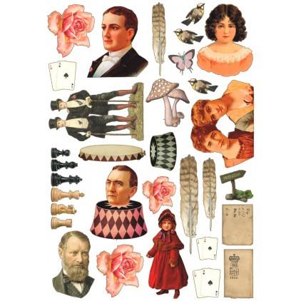 Scrapbooking paper pictures A4 - La Blanche - Fantasy 1