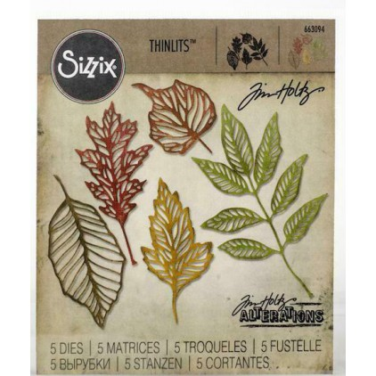 Wykrojniki - Sizzix - Thinlits - 663094 - Skeleton leaves