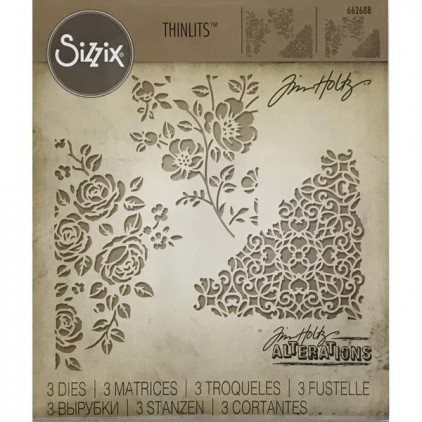 Wykrojniki - Sizzix - Thinlits - 662688 - Mixed media 5
