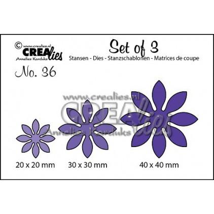 Wykrojniki - Kreatywne kwiaty - Crealies -CLSet36