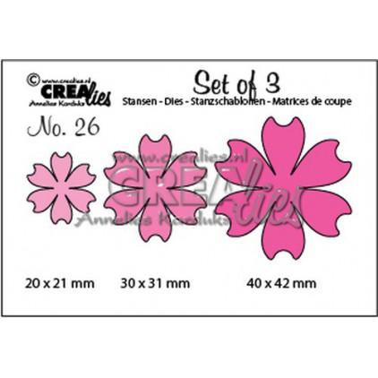 Die - Flowers - Crealies - CLSet26
