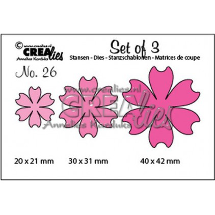 Wykrojniki  - Kreatywne kwiaty - Crealies -CLSet26
