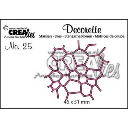 Die - Decorette mosaic - Crealies - CLDR25