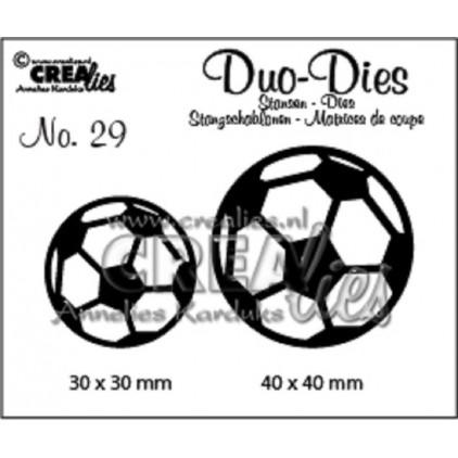 Wykrojniki - Duo Dies - Soccerballs - Crealies - CLDD29