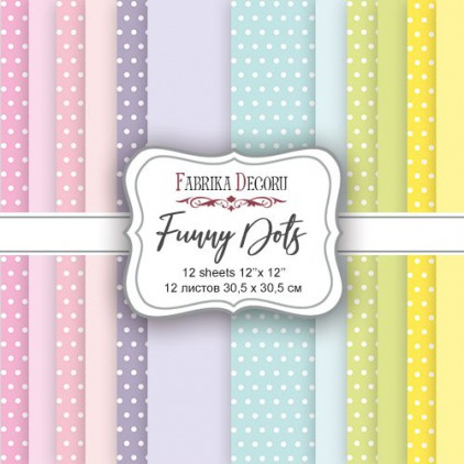 Set of scrapbooking papers - Fabrika Decoru - Funny Dots - XL