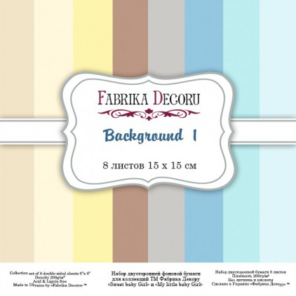 Pad of scrapbooking papers - Fabrika Decoru - Background 1