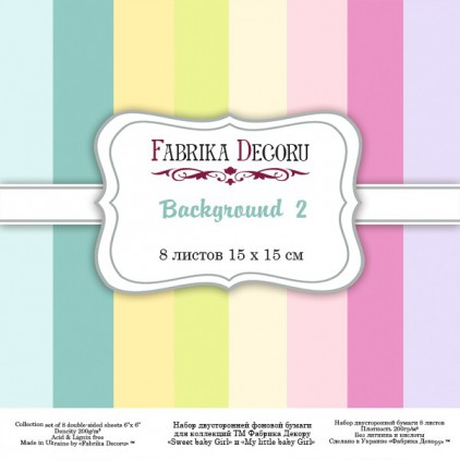 Pad of scrapbooking papers - Fabrika Decoru - Background 2
