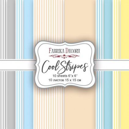 Mały bloczek papierów do tworzenia kartek i scrapbookingu - Fabrika Decoru - Cool Stripes