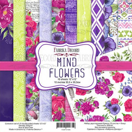 Set of scrapbooking papers - Fabrika Decoru - Mind Flowers