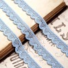 Koronka bawełniana - niebieska - 1 metr