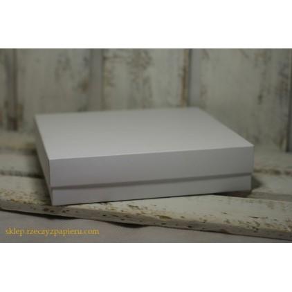 Pudełko na kartkę pełne, wysokie kwadratowe 15x15x3,5 białe - Rzeczy z Papieru