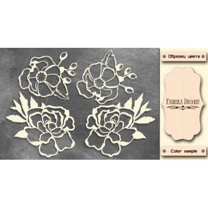 Flowers - Chipboard - Fabrika Decoru FDCH 301