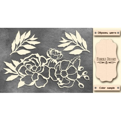 Flowers - Chipboard - Fabrika Decoru FDCH 302