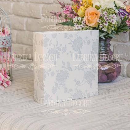 Baza albumowa kwadratowa- tekstura - Shabby white - 20x20x7 cm - Fabrika Decoru