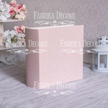 """Baza albumowa kwadratowa- tekstura - """"Pink mother-of-pearl"""" - 20x20x7 cm - Fabrika Decoru"""