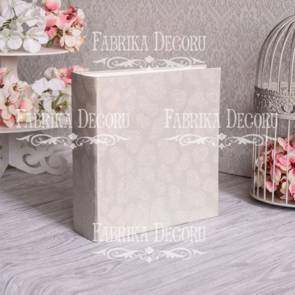 "Album base square- Texture - ""Wedding Beads""- 20x20x7 cm - Fabrika Decoru"