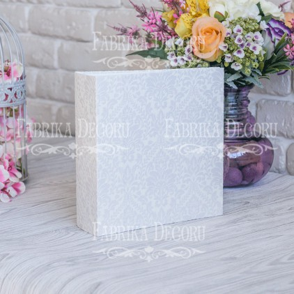 "Album base square- Texture - ""Ornament Champagne color""- 20x20x7 cm - Fabrika Decoru"