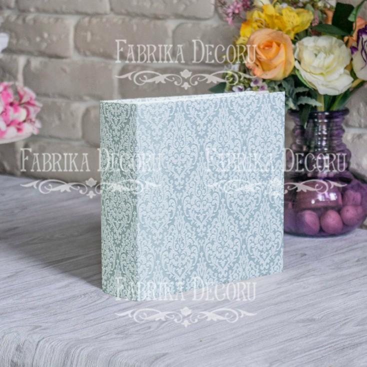 "Album base square- Texture - ""Vintage nacreous ornament""- 20x20x7 cm - Fabrika Decoru"