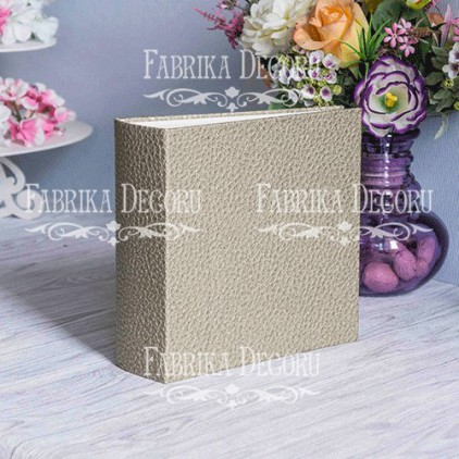 "Album base square- Texture - ""the skin. Platinum""- 20x20x7 cm - Fabrika Decoru"