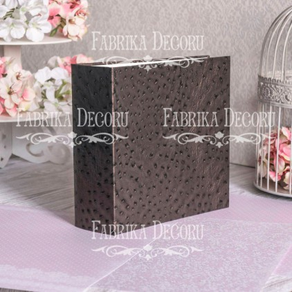 "Album base square- Texture - ""skin of an ostrich. Chocolate""- 20x20x7 cm - Fabrika Decoru"