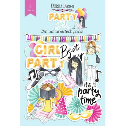Set of die cuts - Fabrika Decoru - Party Girl - 61pcs