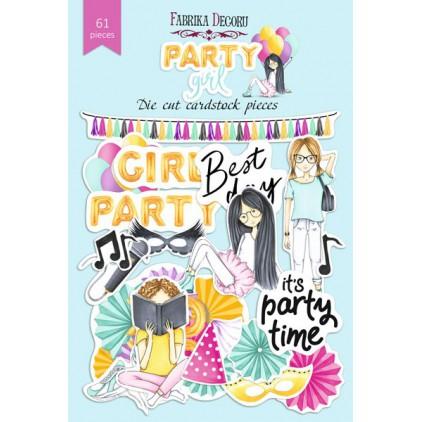 Zestaw papierowych kształtów - Fabrika Decoru - Party Girl - 61 części