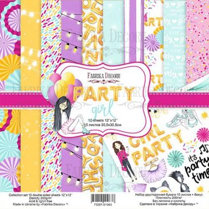 Set of scrapbooking papers - Fabrika Decoru - Party Girl