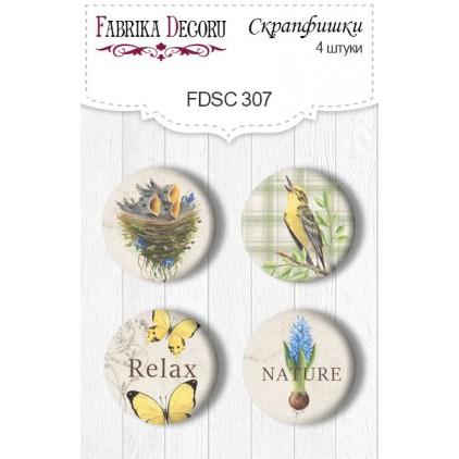 Ozdoby samoprzylepne, buttony - Fabrika Decoru - 307 - Botany Spring 1