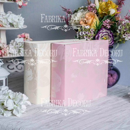 Baza albumowa kwadratowa- materiał - Wedding Pink - 20x20x7 cm - Fabrika Decoru