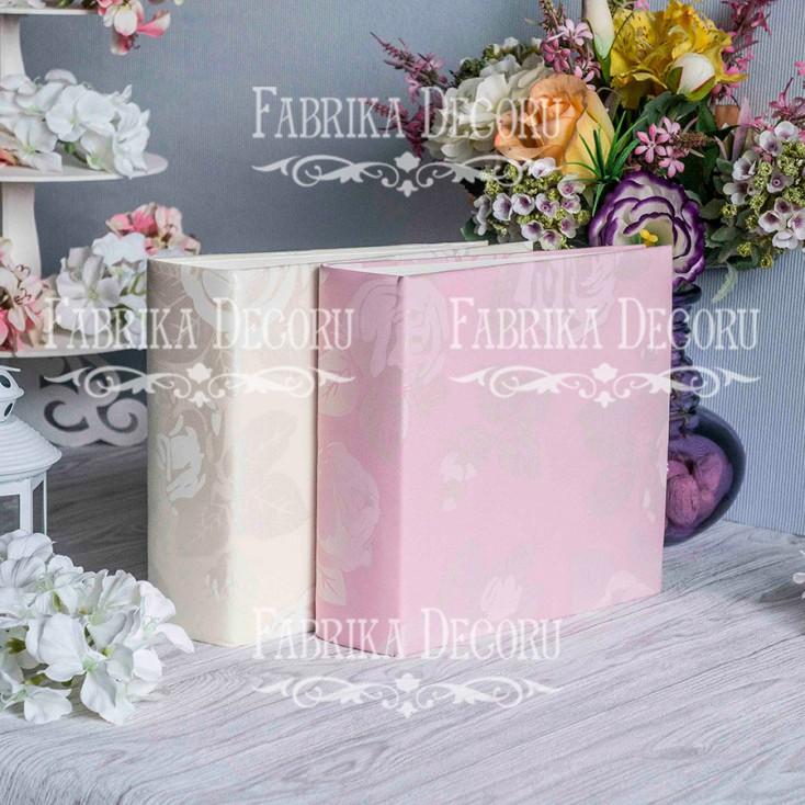 Album base square- Textile - Wedding Pink - 20x20x7 cm - Fabrika Decoru