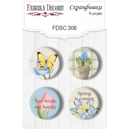 Ozdoby samoprzylepne, buttony - Fabrika Decoru - 308 - Botany Spring 2