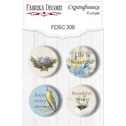 Ozdoby samoprzylepne, buttony - Fabrika Decoru - 309 - Botany Spring 3