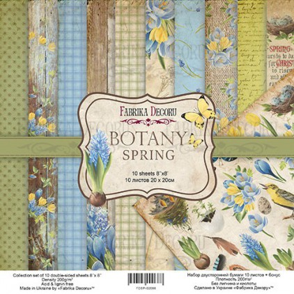 Set of scrapbooking papers - Fabrika Decoru 20 x 20cm - Botany Spring