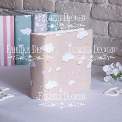 Album base square- Textile - Beige clouds - 20x20x7 cm - Fabrika Decoru