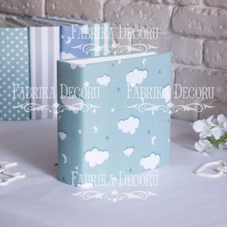 Album base square- Textile - Mint clouds - 20x20x7 cm - Fabrika Decoru