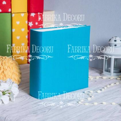 Album base square- Textile - Turquoise - 20x20x7 cm - Fabrika Decoru