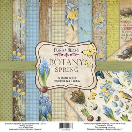 Zestaw papierów do tworzenia kartek i scrapbookingu  - Fabrika Decoru - Botany Spring