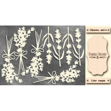 Lavender flowers - Chipboard - Fabrika Decoru FDCH 285