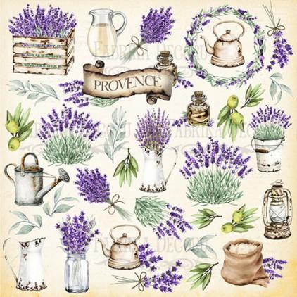 Papier do tworzenia kartek i scrapbookingu - Fabrika Decoru - Lavender Provence  - Obrazki do wycinania