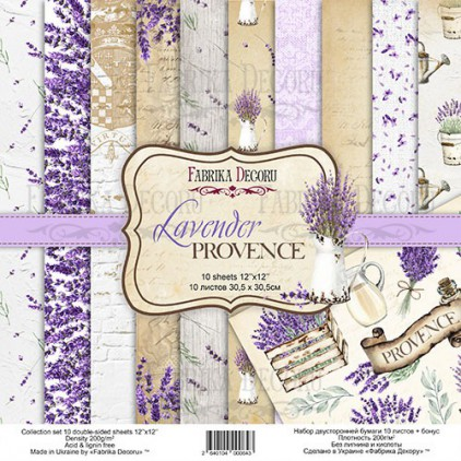Set of scrapbooking papers - Fabrika Decoru - Lavender Provence