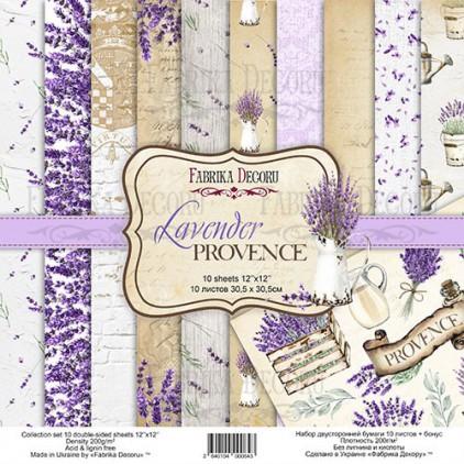 Zestaw papierów do tworzenia kartek i scrapbookingu  - Fabrika Decoru - Lavender Provence