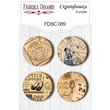 Selfadhesive buttons/badge - Fabrika Decoru - 089