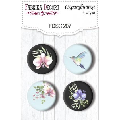 Ozdoby samoprzylepne, buttony - Fabrika Decoru - 207 - Dzika orchidea