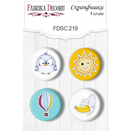 Selfadhesive buttons/badge - Fabrika Decoru - 219 -  My tiny sparrow Boy