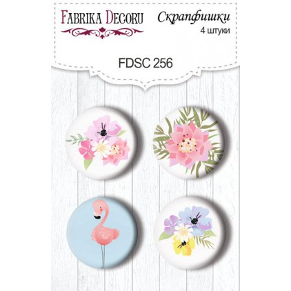 Selfadhesive buttons/badge - Fabrika Decoru - 256 - Summer holiday