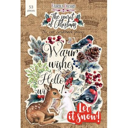 Zestaw papierowych kształtów - Fabrika Decoru - The spirit of Christmas - 53 części